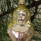 Girl Bust Old World Ornament European Glass