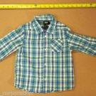 H&M Boys Button-Down Shirt 1 1/2-2 Years Blue Plaid