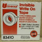 Universal Invisible Write On Tape