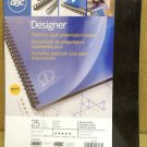GBC 25703 Designer Presentation Covers 25 sets