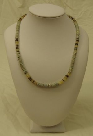 Shell Necklace Barrel Clasp 17 in