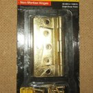 "Stanley Non-Mortise Hinge 46-0815 3"" Bright Brass Finis"