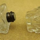 Crystal Salt and Pepper Shakers with Sterling Silver To