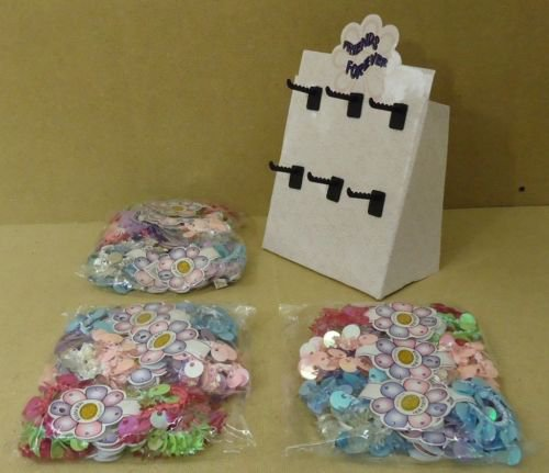 Bead & Buds Value Pack Stretchy Friendship Bracelets Qty 36 Pairs Display Stand