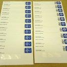 UO76 UO78 E & 25c qty 20 U.S. Postage Envelopes Officia