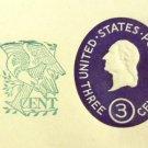 U540, 3c U.S. Postage Envelopes qty 2
