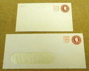 U537, 2c U.S. Postage Envelope qty 2