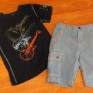 DNKY T-Shirt & Shorts Set Boy 3T Cotton RN124422