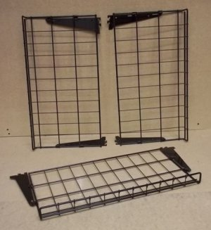 Wire Racks 24in x 13in with Brackets Lot of 3