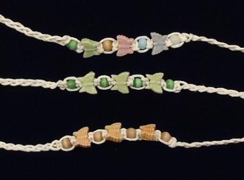 Braided Friendship Bracelets Butterflies Qty 36