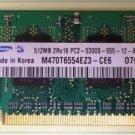 Samsung M470T6554EZ3-CE6 512MB 2Rx16 PC2-5300S-555 Ram