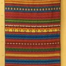 Embroidered Cloth 35in x 105in Black Multicolored C