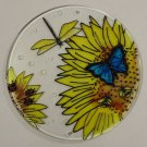 Painted Glass Sun Catcher Sunflower Insects Qty 5 Window Hang 2 Holes CL37