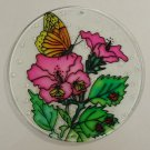 Painted Glass Sun Catcher Bees Ladybugs Butterfly Qty 6 Window Hang 2 Holes CL30