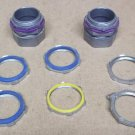 Assorted Conduit Fittings 1 1/2in Lot of 8