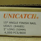 Unicatch UDA21 15* Angle Finish Nail 2in Qty 2000 Metal
