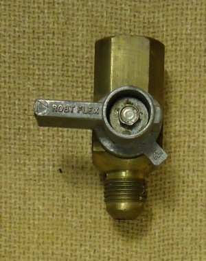 Robt Flex Air Hose Shut Off Connector 2 1/2in x 1 1/2in x 1in Metal