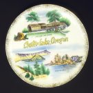 Crater Lake Oregon Vintage Plate Gold Trim 10 1/2in Ceramic Gold