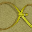 Wilson Pet Harness Adjustable 30in x 1/2in Yellow Leather Metal