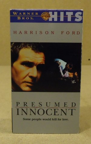 Warner Bros. Presumed Innocent VHS Movie  * Plastic Paper