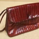 Generic Purse 10in x 8in x 3in Vinyl Female Adult  Burgundy Red Solid BF56