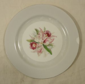 Noritake 5049 Vintage Salad Plate 7 1/2in China Gold Rim Chipped