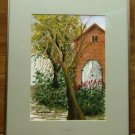 Kay Bush Framed Water Color Painting 20 1/2in x 16 1/2in x 1in  * Glass Plastic