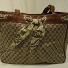 Chadwicks Purse Nylon Female Adult Satchel Brown/Beige Diamond 012-134