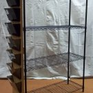 Generic Wire Rack Shelving 75in x 48in x 18in  w/ Sorting Trays Black BF34 * Steel