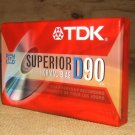 TDK Cassette Superior Normal Bias 90min D90 * Plastic