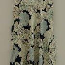 J Crew Dress Halter Knee-Length Polyester Female Adult S White/Blue/Green Floral 09-10rt