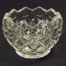 Designer Crystal Bowl 3 1/2in x 3 1/2in x 3in BFr56 Vintage Crystal