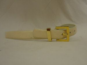 Belts West Belt 30in-34in Brass Buckle Leather Female Adult M/L Beiges