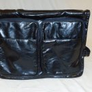 American Homeware Briefcase Hanging Pockets 18in x 13in x 2 1/2in Black Leather