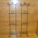 Designer Hanging Wall Frames 40in x 10 1/4in x 2 1/4in Black Decorative Metal