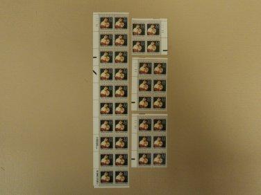 USPS Scott 2367 22c 1987 Christmas Moroni National Lot of 4 Mint NH Plate Block
