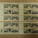 USPS Scott 2019-22 20c American Architecture Lot of 4 Plate Block Mint NH