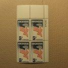 USPS Scott 1249 5c Register Vote 1964 Mint NH Plate Block 4 Stamps