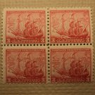USPS Scott 736 3c Maryland Tercentenary 1634-1934 Mint NH OG 4 Stamp Block