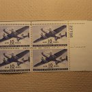 USPS Scott C27 10c Air Mail Transport Plane 1941 Mint NH OG Plate Block 4 Stamps