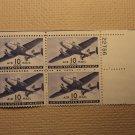 USPS Scott C27 10c Air Mail Transport Plane 1941 Mint NH OG Plate Block 4 Stamps