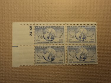 USPS Scott C43 15c The Universal Postal Union 1874-1949 Plate Block Mint NH OG