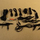 Standard Audio Cords and Cables Black Lot Of 12 Assorted Lengths