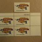 USPS Scott 1341 $1 Airlift For Our Servicemen 1968 Lot Of 2 Plate Block Mint NH