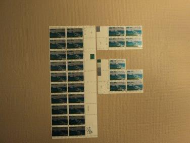 USPS Scott 2091 20c 1984 Saint Lawrence Seaway Lot Of 3 Plate Block Mint NH