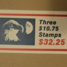 USPS Scott 2122 $10.75 Book Of 3 Eagle Half Moon Stamps 1985 Mint Booklet