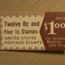 USPS Scott 1395b 8c Eisenhower 1970-74 1 Book 16 Stamps 3 Panes