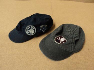 Place Hats Baseball Lot Of 2 Cotton 100% Male Kids 2-4 3T Blacks Solid