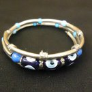 Designer Fashion Bracelet Bangle Metal Stones Female Adult Silvers/Blues