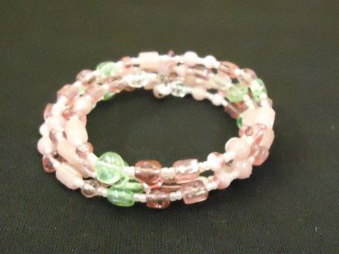 Designer Fashion Bracelet Beaded/Strand Female Adult Pinks/Greens